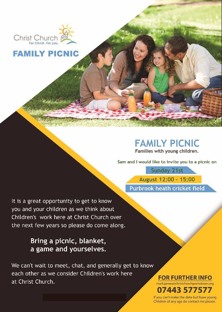 Family picnic flier